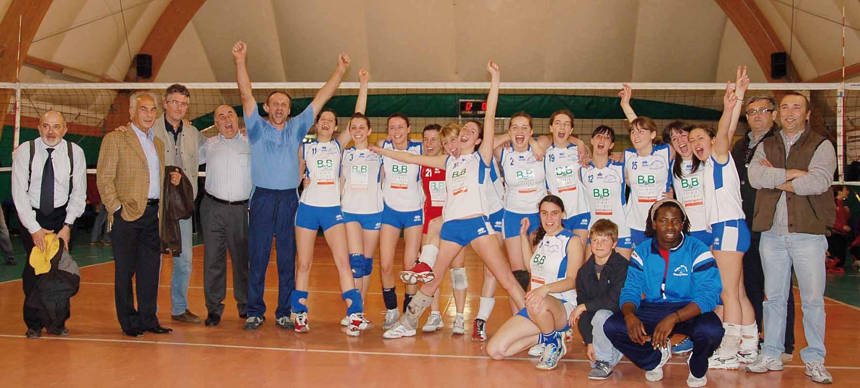 Promosse in 1ª divisione: festa per il volley femminile