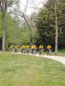 Biciclette nel parco