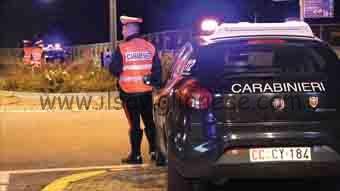 posto di blocco Carabinieri provincia di Cuneo
