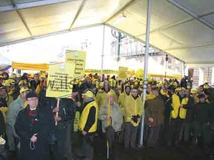 Allevatori protesta Torino prima