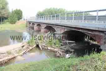 Ponte Maira Cava ostruito