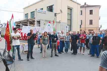 Alstom sciopero 7-9-2016