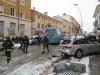 Bus travolge autovetture e dehors in corso Roma