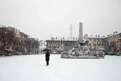 piazza del popolo neve gennaio 2017