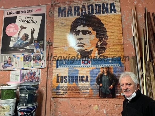 "La Savigliano partenopea piange ""el pibe de oro"""